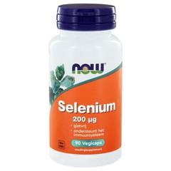 NOW Selenium gistvrij 200 mcg (90 vcaps)