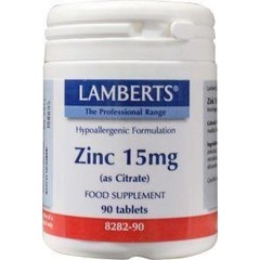 Lamberts Zink citraat 15 mg (90 tabletten)