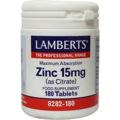 Lamberts Zink citraat 15 mg (180 tabletten)