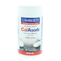 Lamberts Calasorb (calcium citraat) & Vitamine D3 (60 tabletten)