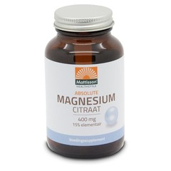 Mattisson Absolute magnesium citraat 400 mg (60 vcaps)