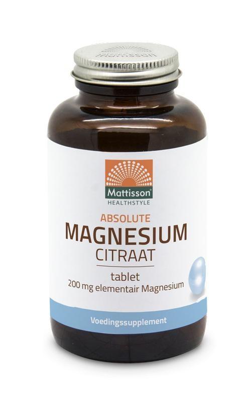 Mattisson Mattisson Absolute magnesium citraat 200 mg (60 tabletten)