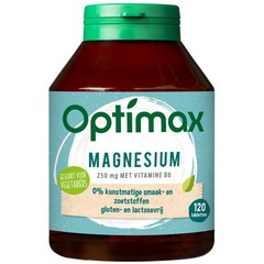Optimax magnesium citraat 250 mg + vit B6 (120 tabletten)