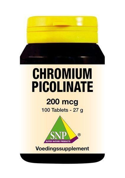 SNP SNP Chroom picolinaat 200 mcg (100 tabletten)