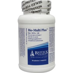 Biotics Bio multi plus ijzer en koper vrij (90 tabletten)