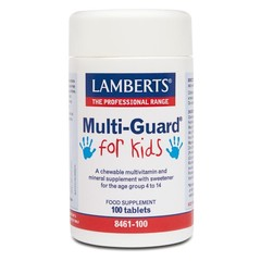 Lamberts Multi-guard for kids (playfair) (100 kauwtabletten)