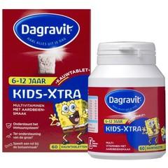 Dagravit Multi kids aardbei 6-12 jaar (60 kauwtabletten)