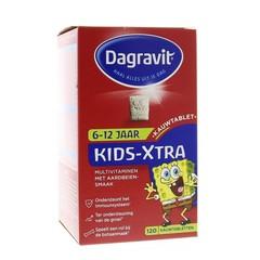 Dagravit Multi kids aardbei 6-12 jaar (120 kauwtabletten)