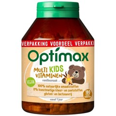 Optimax Kinder multivit vanille (180 kauwtabletten)