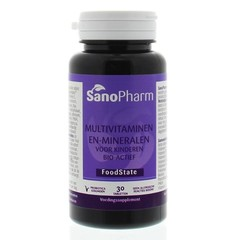 Sanopharm Kindermultivitaminen en mineralen foodstate (30 tabletten)