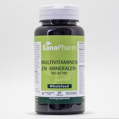 Sanopharm Multivitaminen/mineralen wholefood (30 capsules)