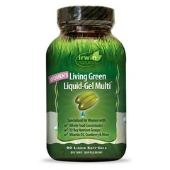 Irwin Naturals Living green liquid gel multi for women (90 softgels)