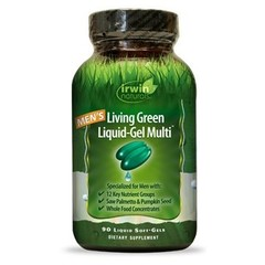 Irwin Naturals Living green liquid gel multi for men (90 softgels)