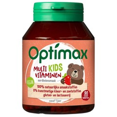Optimax Kinder multi aardbei (90 kauwtabletten)