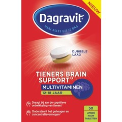 Dagravit Tieners brain support (50 tabletten)