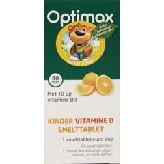 Optimax Kinder natuurlijk vitamine D smelttablet (60 zuigtabletten)
