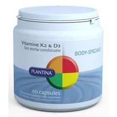 Plantina Vitamine K2 en D3 (60 capsules)