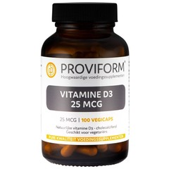 Proviform Vitamine D3 25 mcg (100 vcaps)