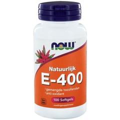 NOW Vitamine E-400 gemengde tocoferolen (100 softgels)