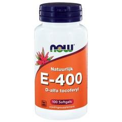 NOW Vitamine E-400 d-alfa tocoferyl (100 softgels)