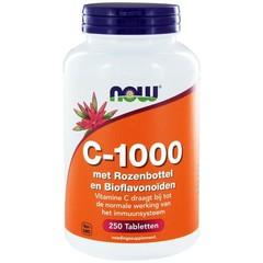 NOW Vitamine C-1000 met rozenbottel en bioflavonoiden (250 tabletten)