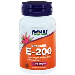 NOW Vitamine E-200 natuurlijke gemengde tocoferolen (100 softgels)