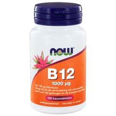NOW Vitamine B12 1000 mcg en Foliumzuur 100 mcg (100 kauwtabletten)