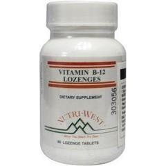 Nutri West Vitamine B12 lozenge (60 tabletten)