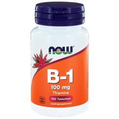 NOW Vitamine B1 100 mg (100 tabletten)