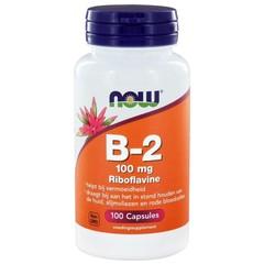 NOW Vitamine B2 100 mg (100 capsules)