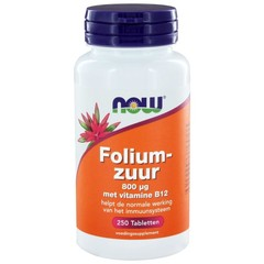 NOW Foliumzuur 800 mcg (250 tabletten)