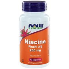NOW Niacine flush vrij 250 mg (90 vcaps)