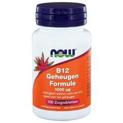 NOW Vitamine B12 geheugenformule 1000 mcg (100 zuigtabletten)