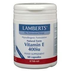 Lamberts Vitamine E 400IE natuurlijk (60 vcaps)