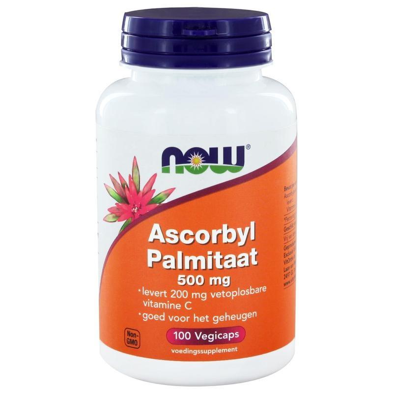 Now NOW Ascorbyl palmitaat Vitamine C 500 mg (100 vcaps)