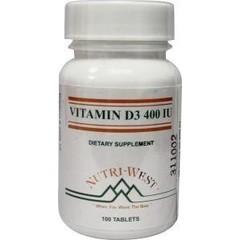 Nutri West Vitamine D3 400 (100 tabletten)