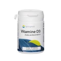 Springfield Vitamine D3 600 IU (90 tabletten)