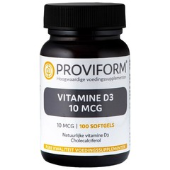 Proviform Vitamine D3 10 mcg (100 softgels)