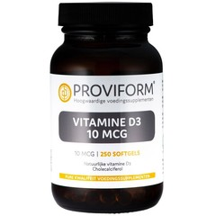 Proviform Vitamine D3 10 mcg (250 softgels)