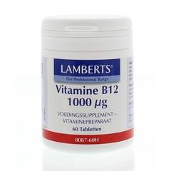 Lamberts Vitamine B12 1000 mcg (cyanocobalamine) (60 tabletten)
