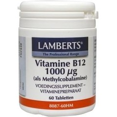 Lamberts Vitamine B12 methylcobalamine 1000 mcg (60 tabletten)