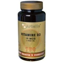 Artelle Vitamine D3 15 mcg (100 capsules)