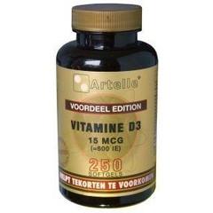 Artelle Vitamine D3 15 mcg (250 capsules)