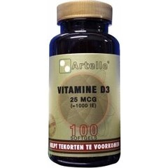 Artelle Vitamine D3 25 mcg (100 softgels)