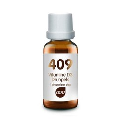 AOV 409 Vitamine D3 druppels 25 mcg (15 ml)
