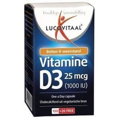 Lucovitaal Vitamine D3 25 mcg (120 capsules)