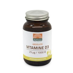 Mattisson Absolute Vitamine D3 25 mcg / 1.000 IU (300 tabletten)