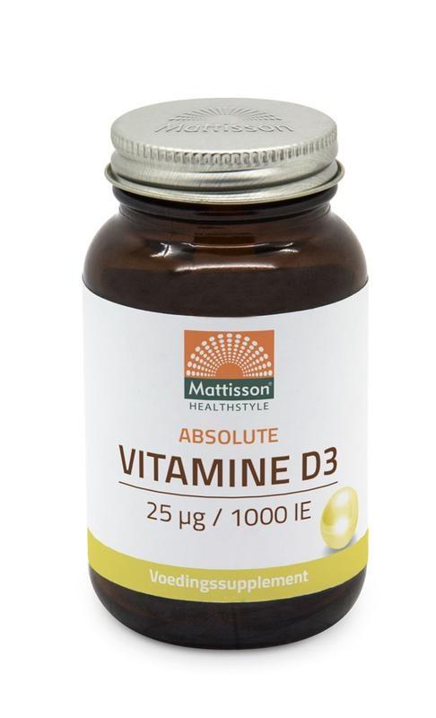 Mattisson Mattisson Absolute Vitamine D3 25 mcg / 1.000 IU (300 tabletten)