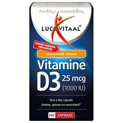 Lucovitaal Vitamine D3 25 mcg (365 capsules)
