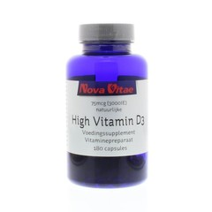 Nova Vitae High vitamine D3 3000IU 75 mcg (180 capsules)